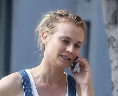 Diane Kruger on the phone