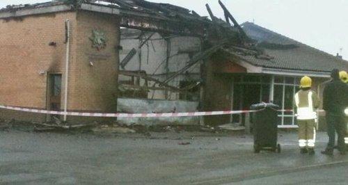 Downham Market Fire Station Destroyed