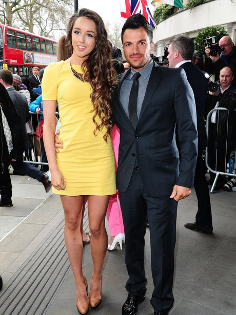 Peter Andre and Emily Macdonagh at the TRIC Awards