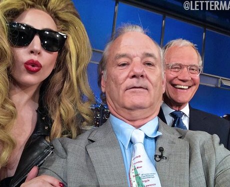 Lady Gaga, Bill Murray and David Letterman Twitter
