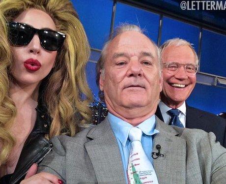 Lady Gaga, Bill Murray and David Letterman Twitter