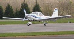 Plane landing at RAF Wittering