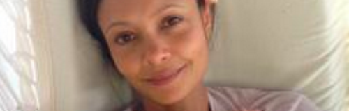 Thandie Newton and her baby son