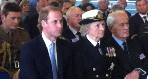 Prince William visiting HMS Alliance