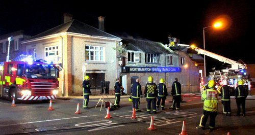 fire disused pub Northampton