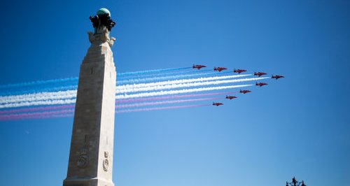 Red Arrows over Southsea