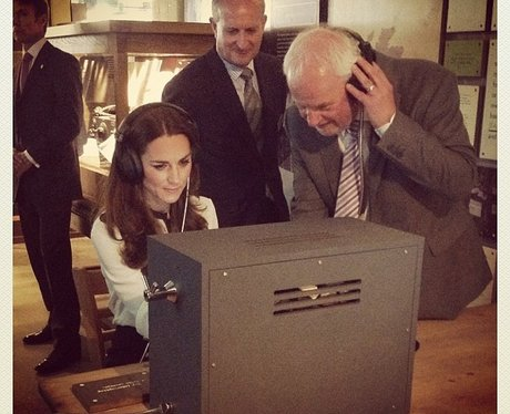 The Duchess of Cambridge learns moors code