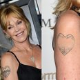 Melanie Griffith pre and post tattoo