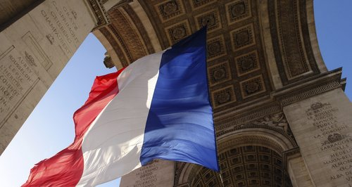 tricolour france french flag arc de triomph