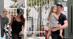 victoria Beckham, Brooklyn and Harper Gym