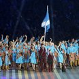 team scotland, scottie dog, opening ceremony