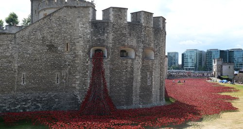 River of Blood at London's Tower Bridge