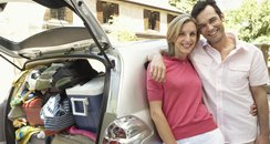 Couple With Packed Car