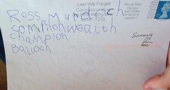 Ross Murdoch letter