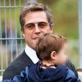 Hugh Grant with son