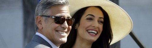 George Clooney and wife Amal Alamuddin Civil Marri