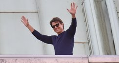 Tom Cruise on set Mission Impossible 5