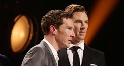 Benedict Cumberbatch with his waxwork