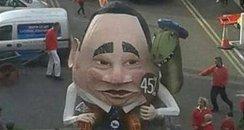 Salmond bonfire effigy