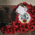 Vandal attack on poppy wreaths