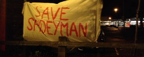 Save Spideyman Banner