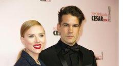 Scarlett Johansson with fiance Romain Dauriac