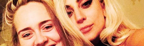 Adele and Lady Gaga selfie