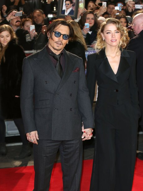 Johnny Depp and Amber  'Mortedcai' premiere london