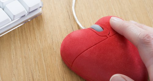 Heart shaped computer mouse