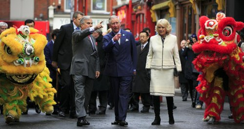 Charles and Camilla in Chinatown