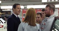 George Osborne at Nissan