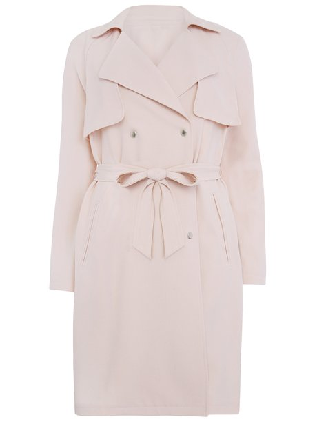 Pale Pink Mac Coat | Down Coat