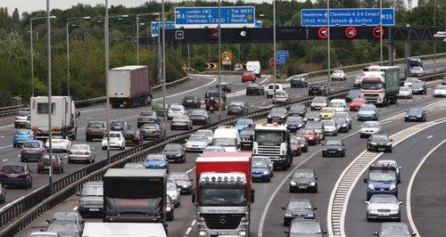 Motorway M25 rush hour congestion