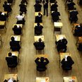 Children taking exams