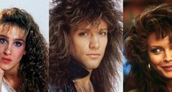 Crazy 80s Hair Canvas