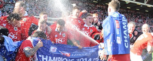 Players spray champagne