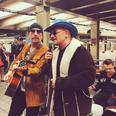 U2 on the subway