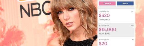 Taylor Swift donates money