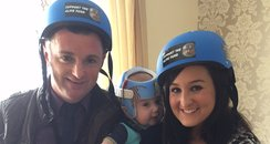 alfie and family in helmet