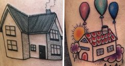House tattoos canvas