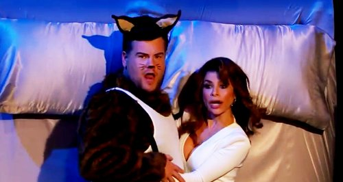 James Corden and Paula Abdul