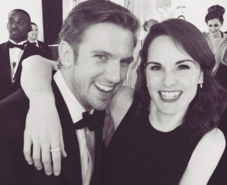 Dan Stevens Michelle Dockery Downton BAFTA party