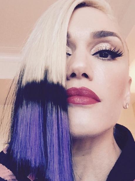 Gwen Stefani's colourful haircut