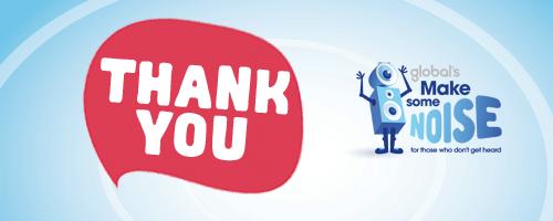 Thank you - global's make some noise HeartMegpod