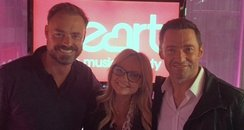 Hugh Jackman with Jamie and Emma