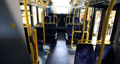 Newly manufactured bus interior