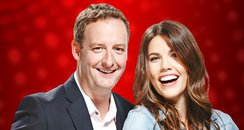James & Becky Red Background