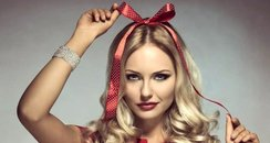 hairstyle pr shot christmas bow