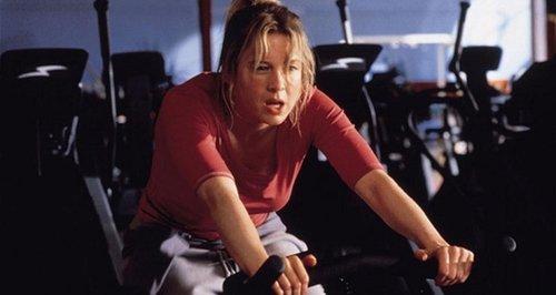 Bridget Jones exercise bike