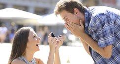 Woman proposing to a man